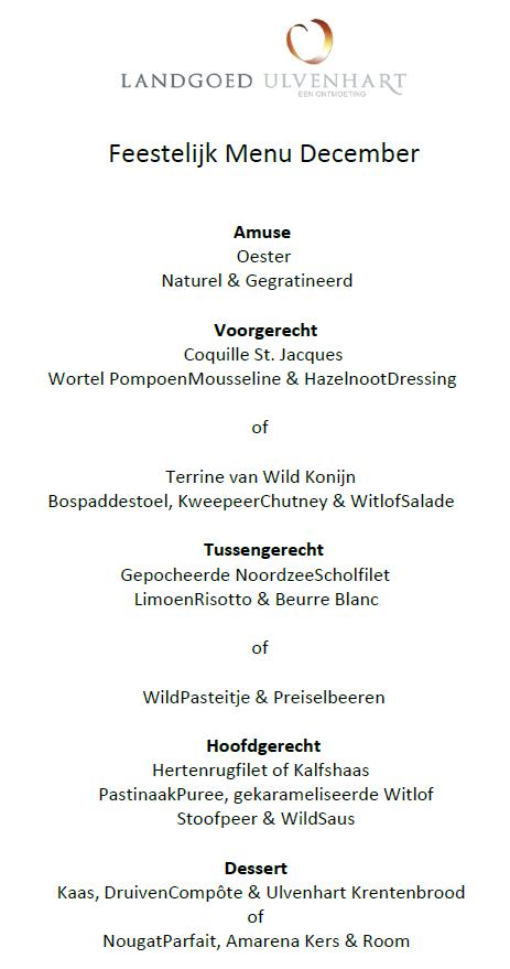 feestelijk menu december